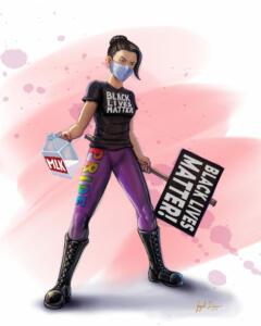 Tracy Queen Black-Lives-Matter